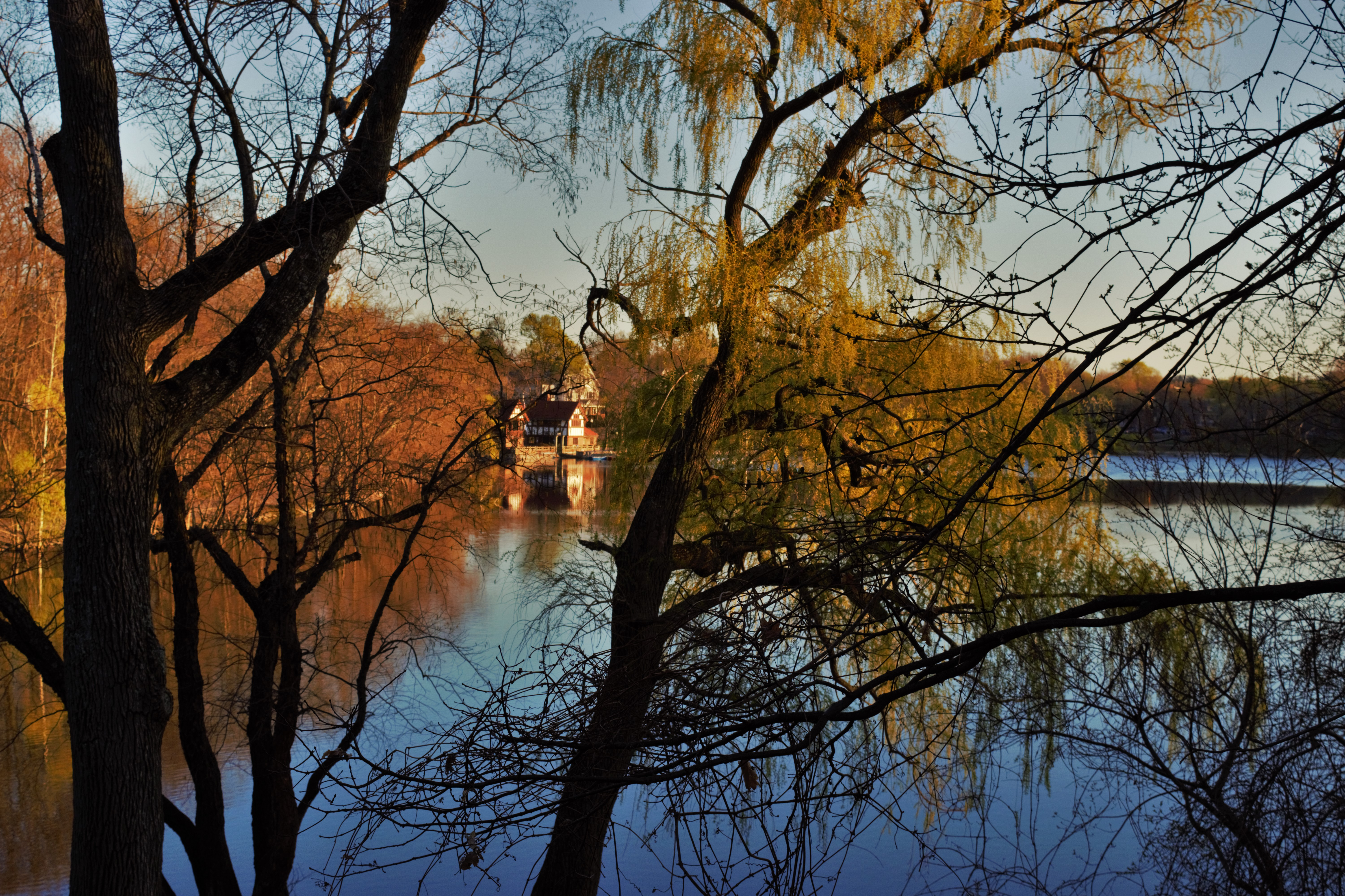 """Sunset on Jamaica Pond"". © Navroop Sahdev. All rights reserved."